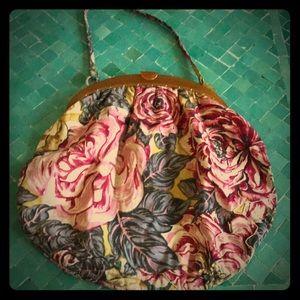 Vintage rose bag celluloid handle
